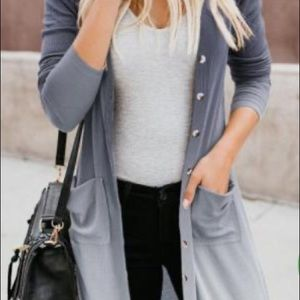 Ombre Duster With Buttons
